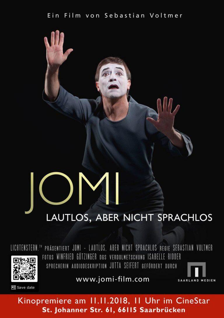 "Filmplakat ""JOMI Lautlos, aber nicht sprachlos"""